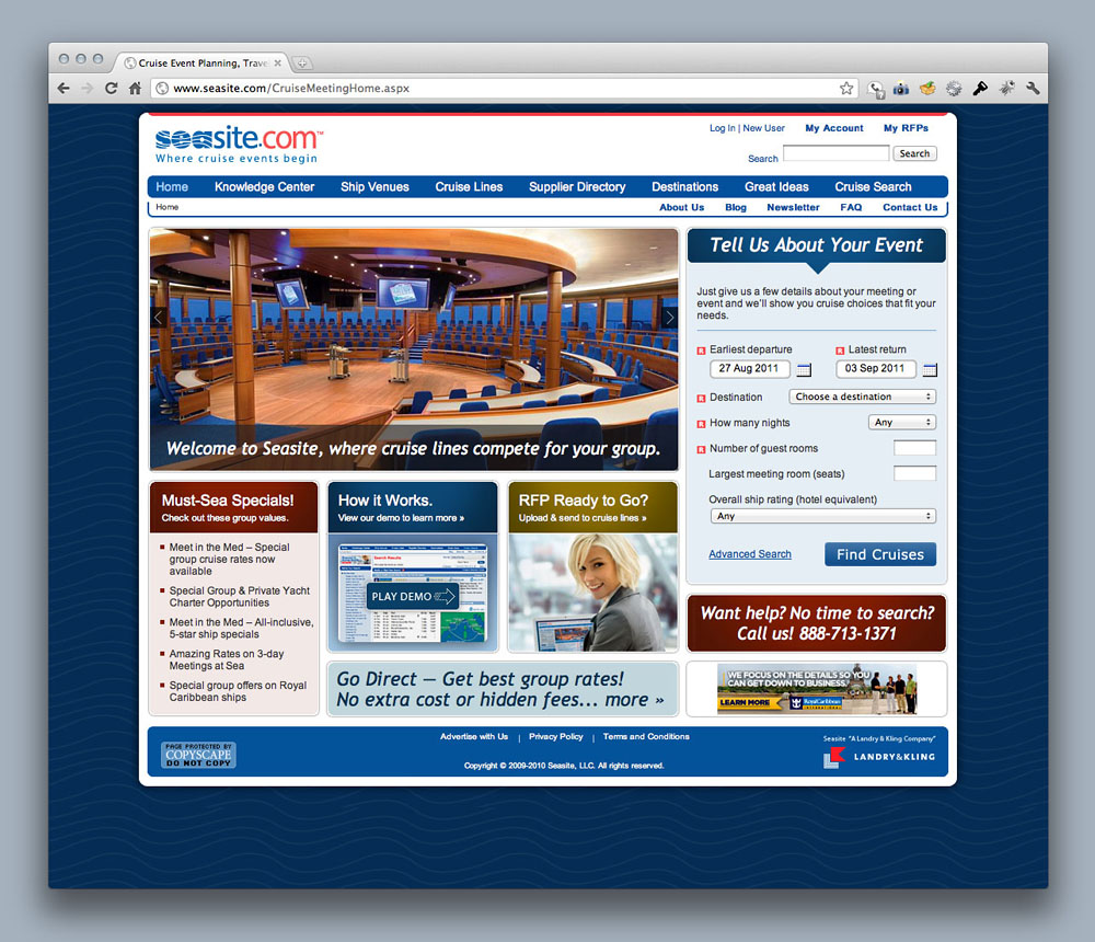 Seasite.com website
